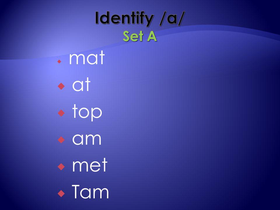  mat  at  top  am  met  Tam