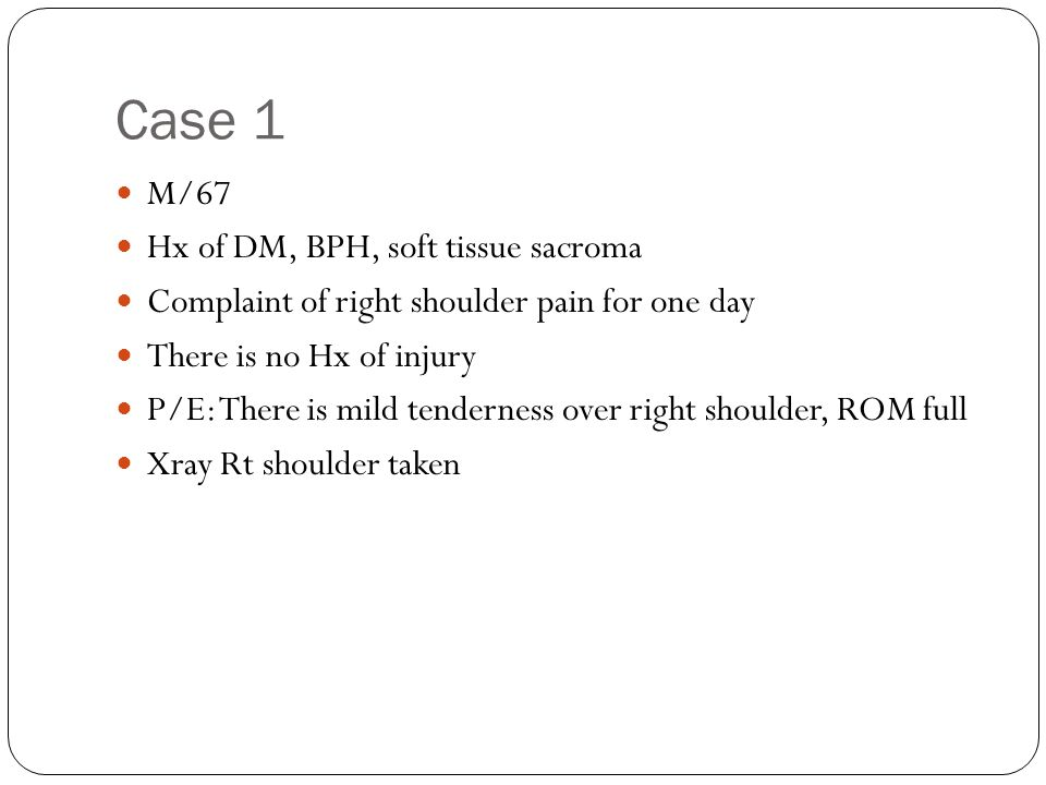 1.Describe the Xray findings. There is widening of right hip joint space.