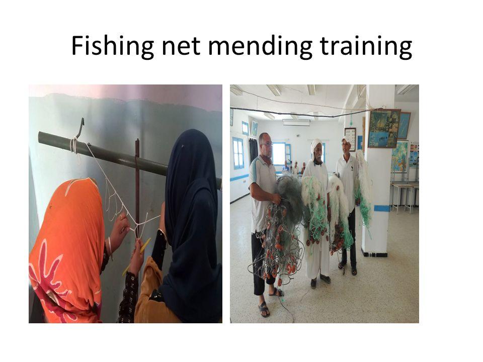 Fishing net mending training
