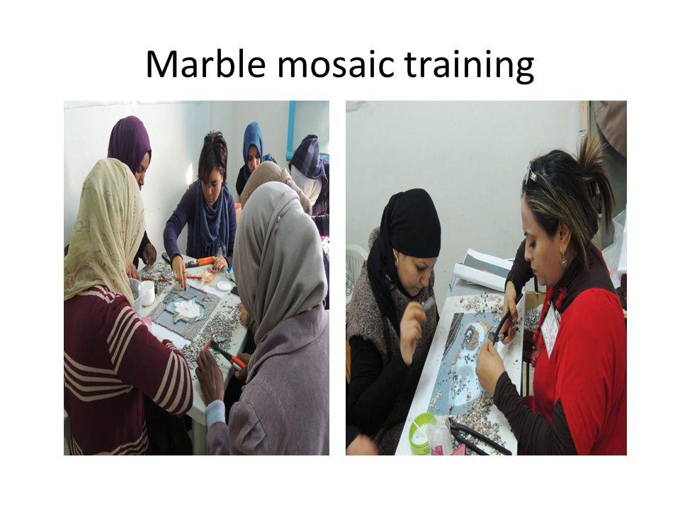 Marble mosaic training