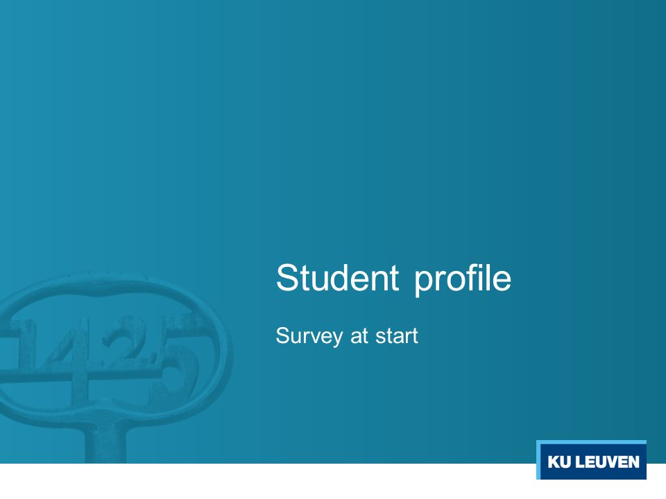 Student profile Survey at start