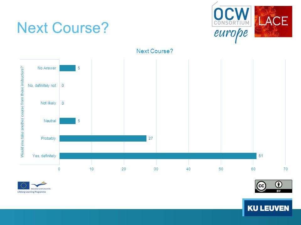 Next Course