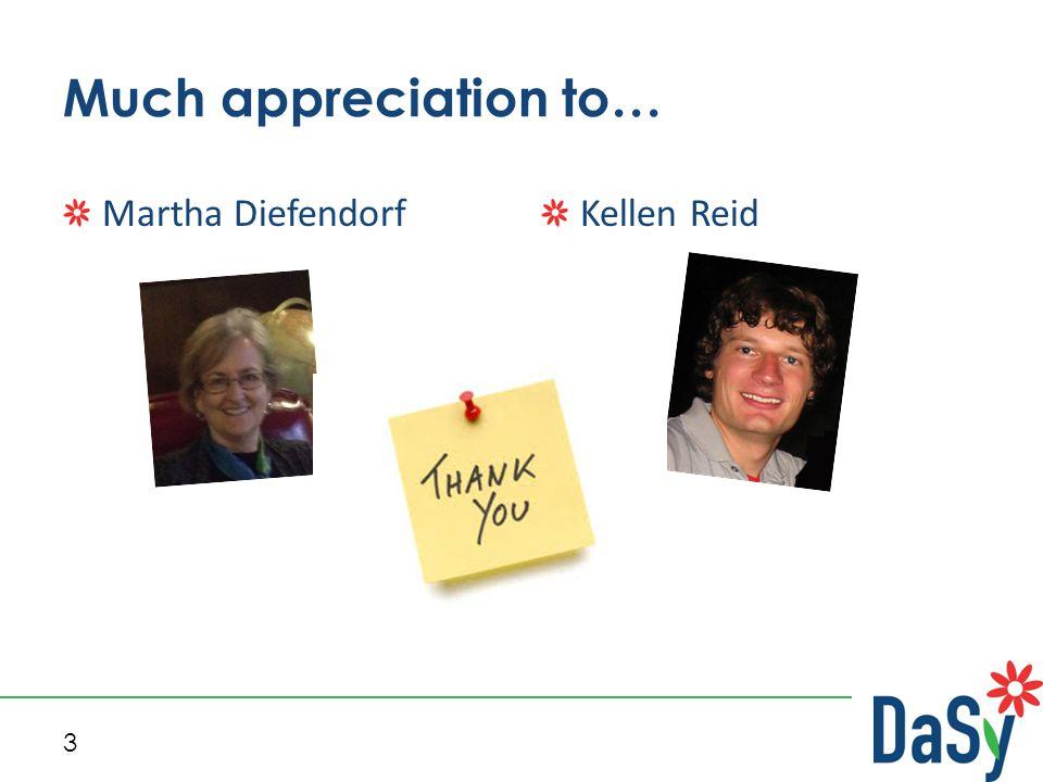 3 Much appreciation to… Martha DiefendorfKellen Reid