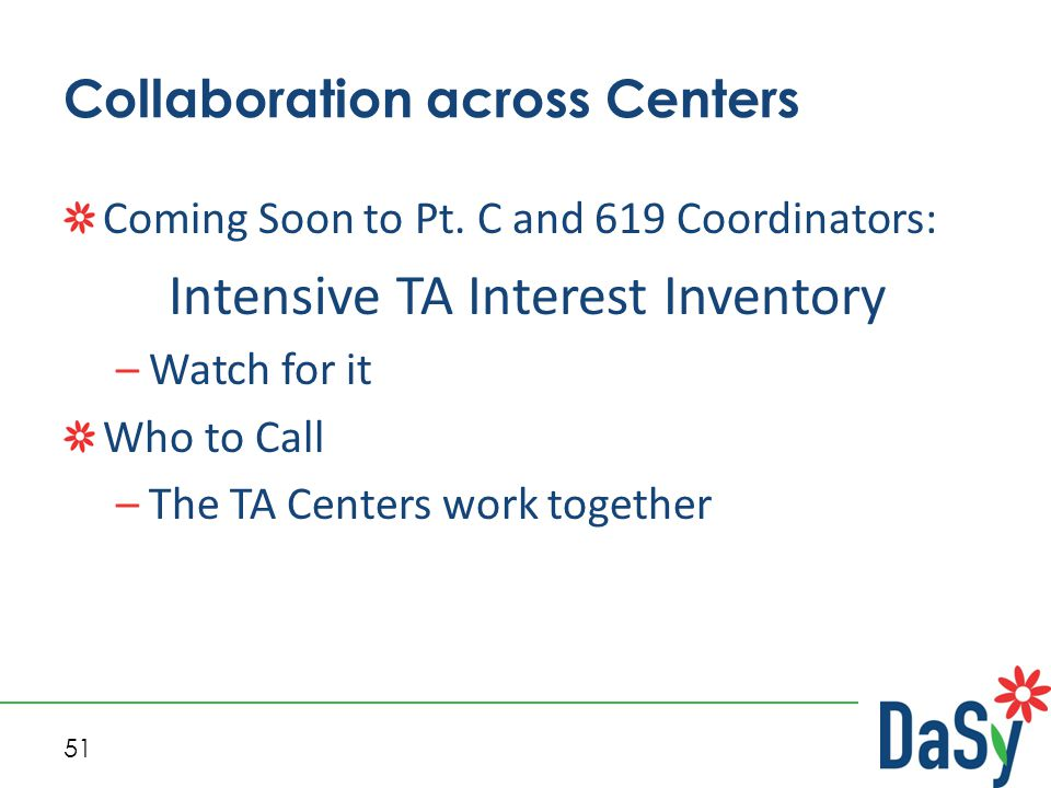 51 Collaboration across Centers Coming Soon to Pt.