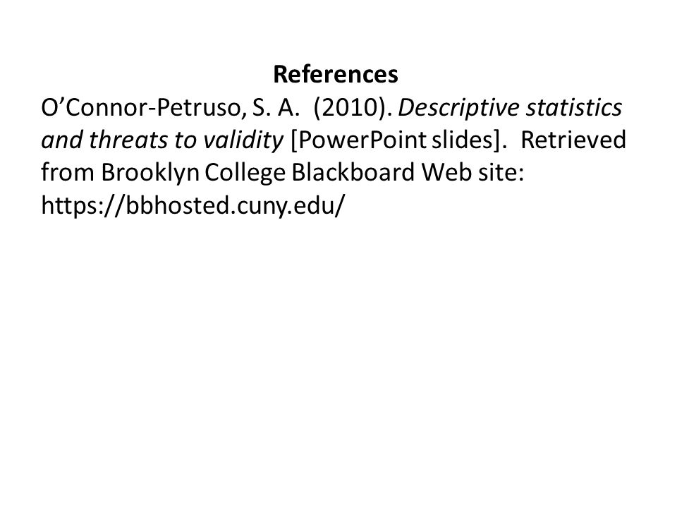 References O'Connor-Petruso, S. A. (2010).