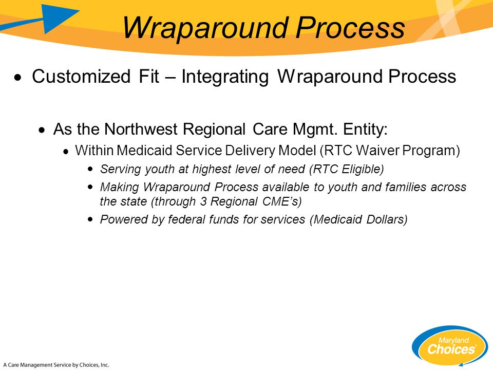  Customized Fit – Integrating Wraparound Process  As the Northwest Regional Care Mgmt.