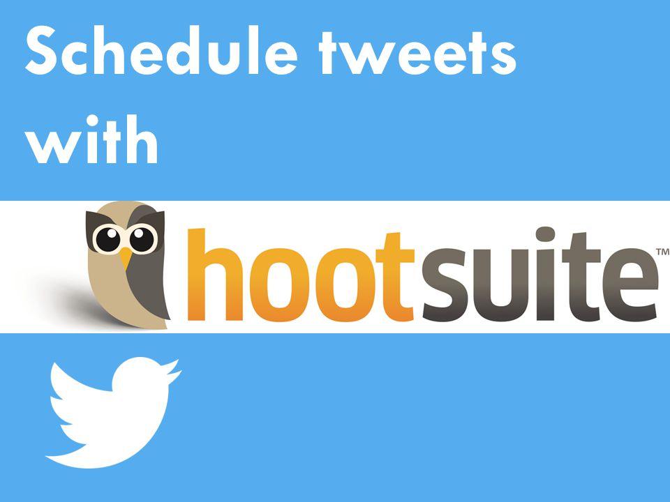 Schedule tweets with