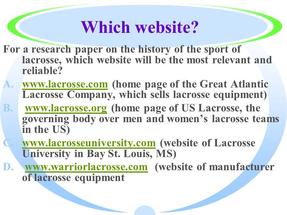 Which website.