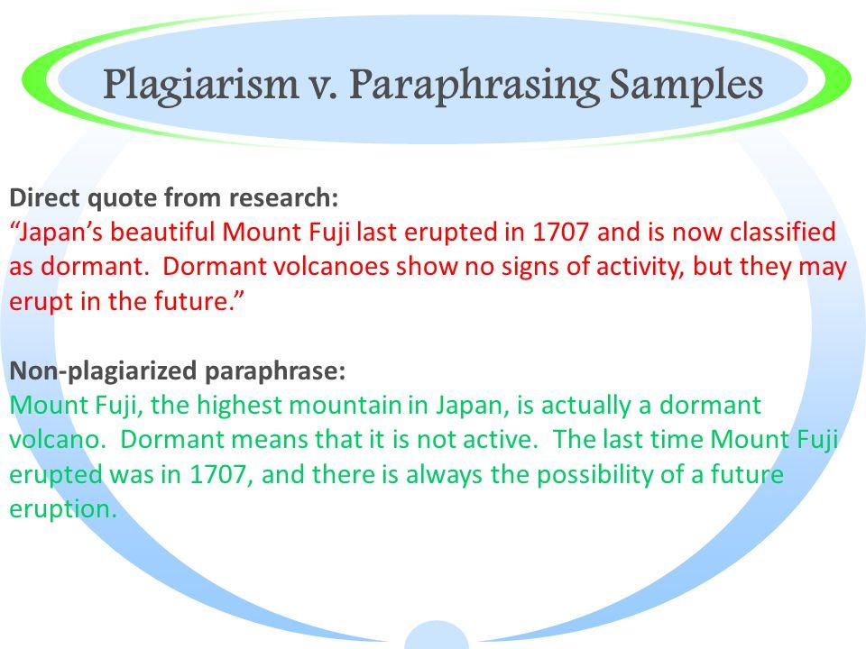 Plagiarism v.