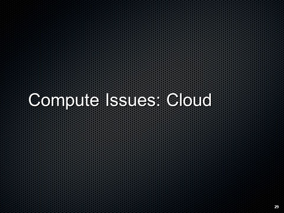 Compute Issues: Cloud 29