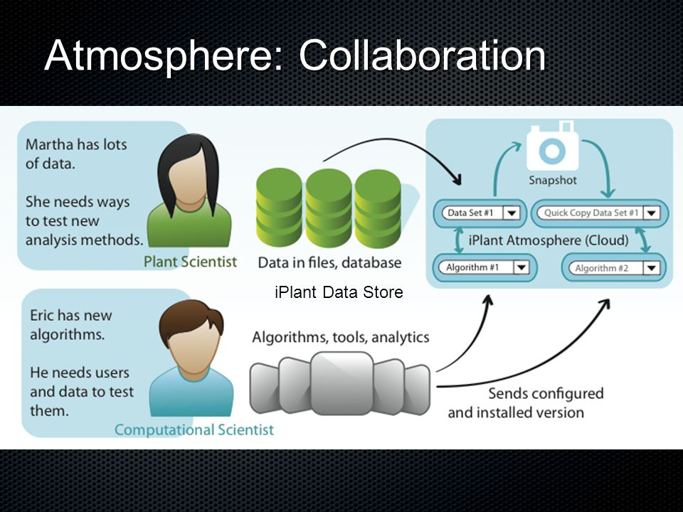 Atmosphere: Collaboration iPlant Data Store