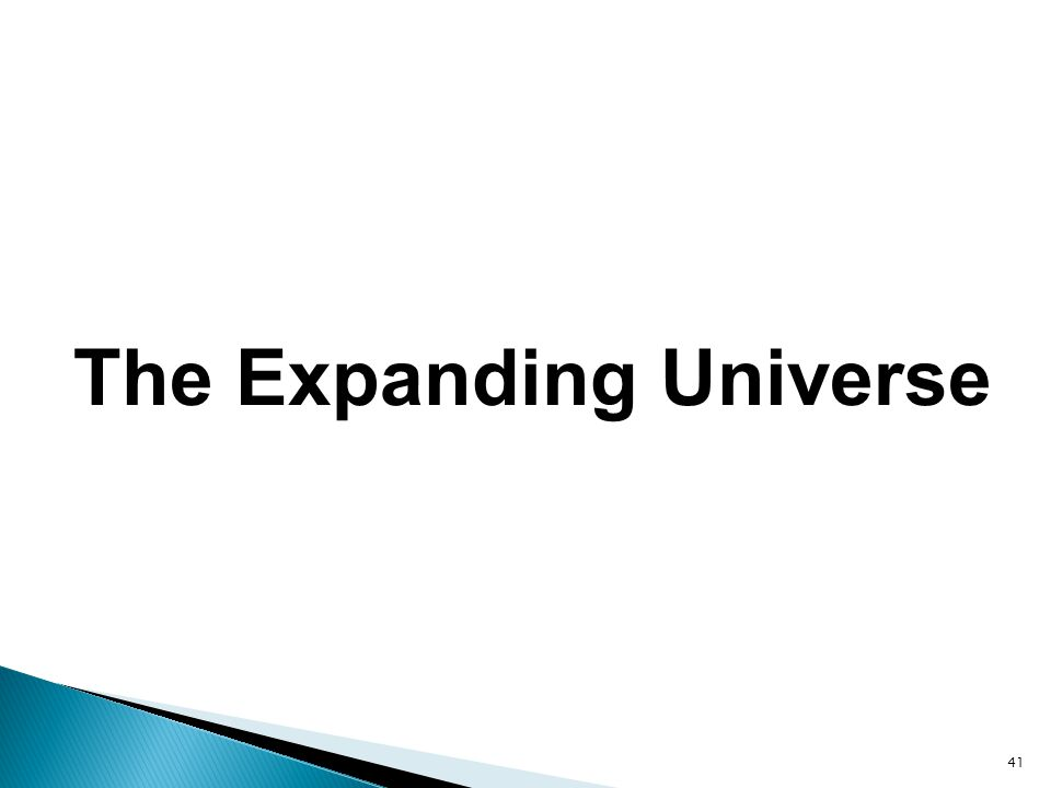 41 The Expanding Universe
