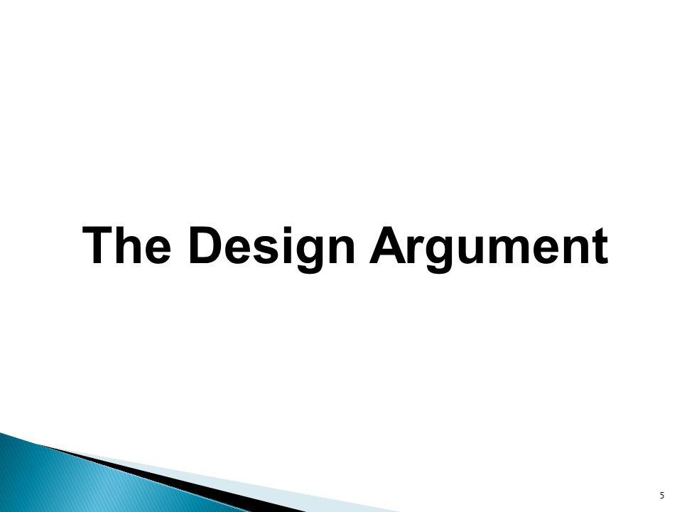 5 The Design Argument