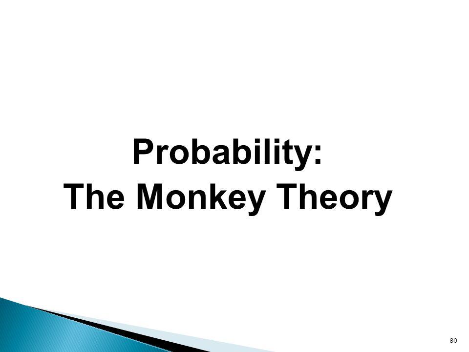 80 Probability: The Monkey Theory