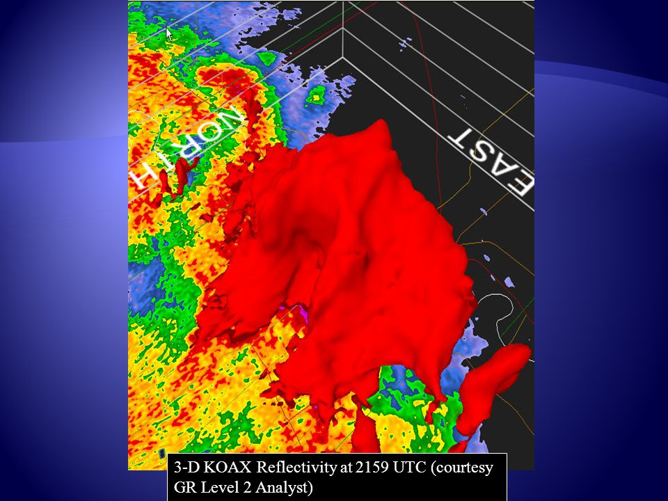 3-D KOAX Reflectivity at 2159 UTC (courtesy GR Level 2 Analyst)
