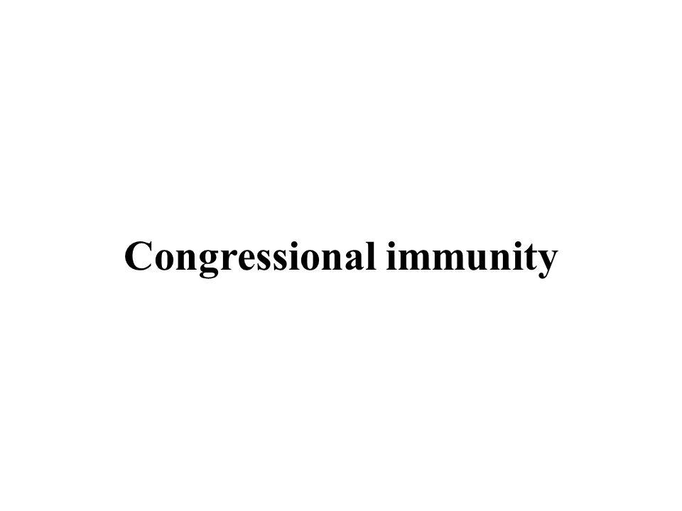 Congressional immunity