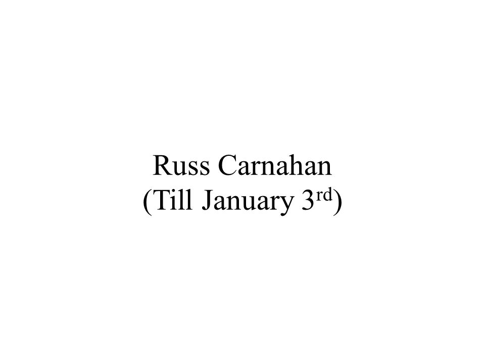 Russ Carnahan (Till January 3 rd )
