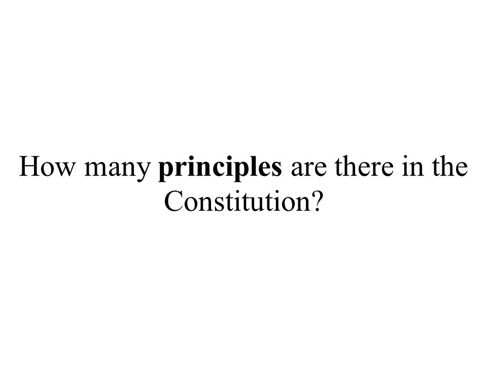 How many principles are there in the Constitution