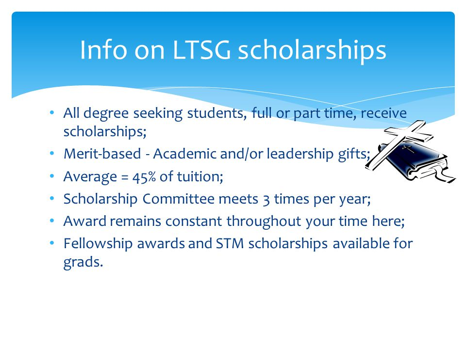 New scholarship distribution program that echoes stewardship given by LTSG grads, and helps offset loan interest.