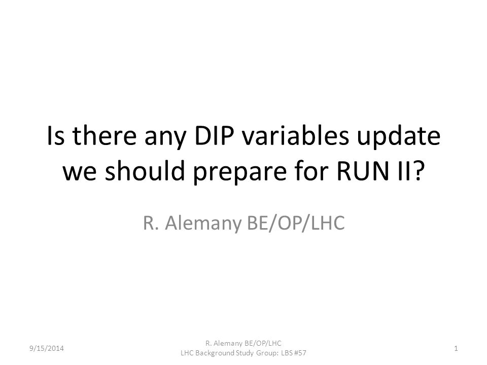 AUTOMATIC SCAN APPLICATION New variable for RUN II 9/15/2014 R.