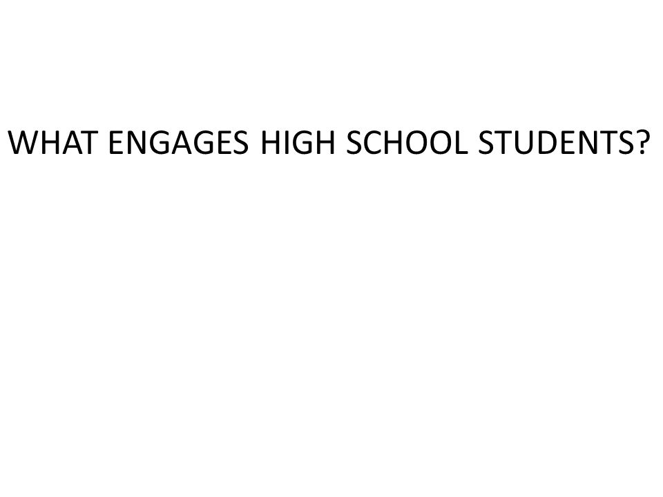 WHAT WOULD MOTIVATE YOU TO SHOW UP AT SCHOOL.