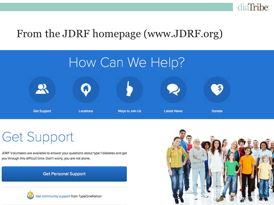 | Confidential12 From the JDRF homepage (www.JDRF.org)