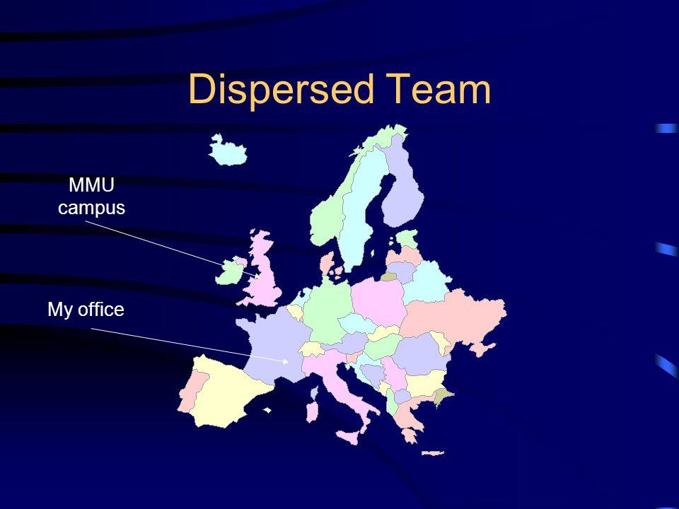 MMU campus My office Dispersed Team