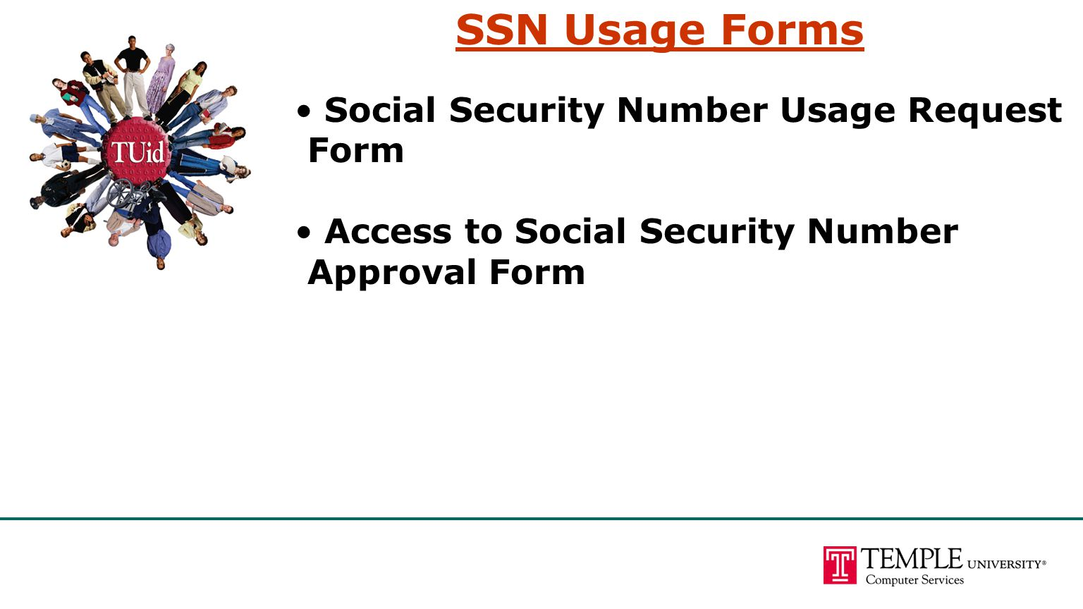 Social Security Number Usage Request Form Access to Social Security Number Approval Form SSN Usage Forms