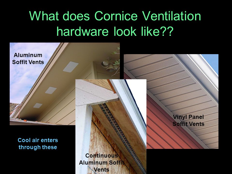 What does Cornice Ventilation hardware look like?.