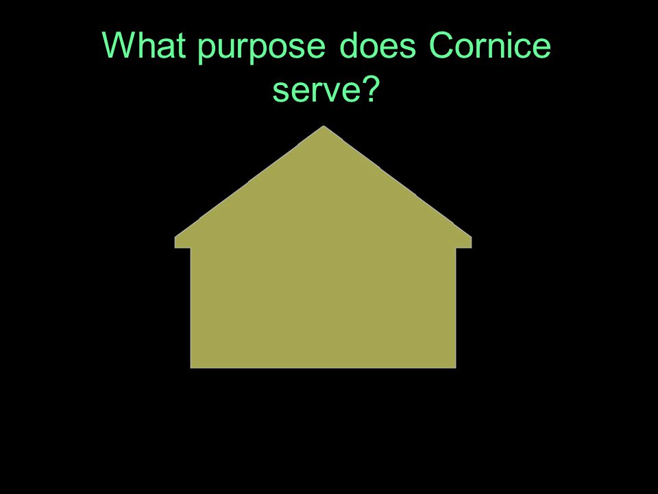 What purpose does Cornice serve?