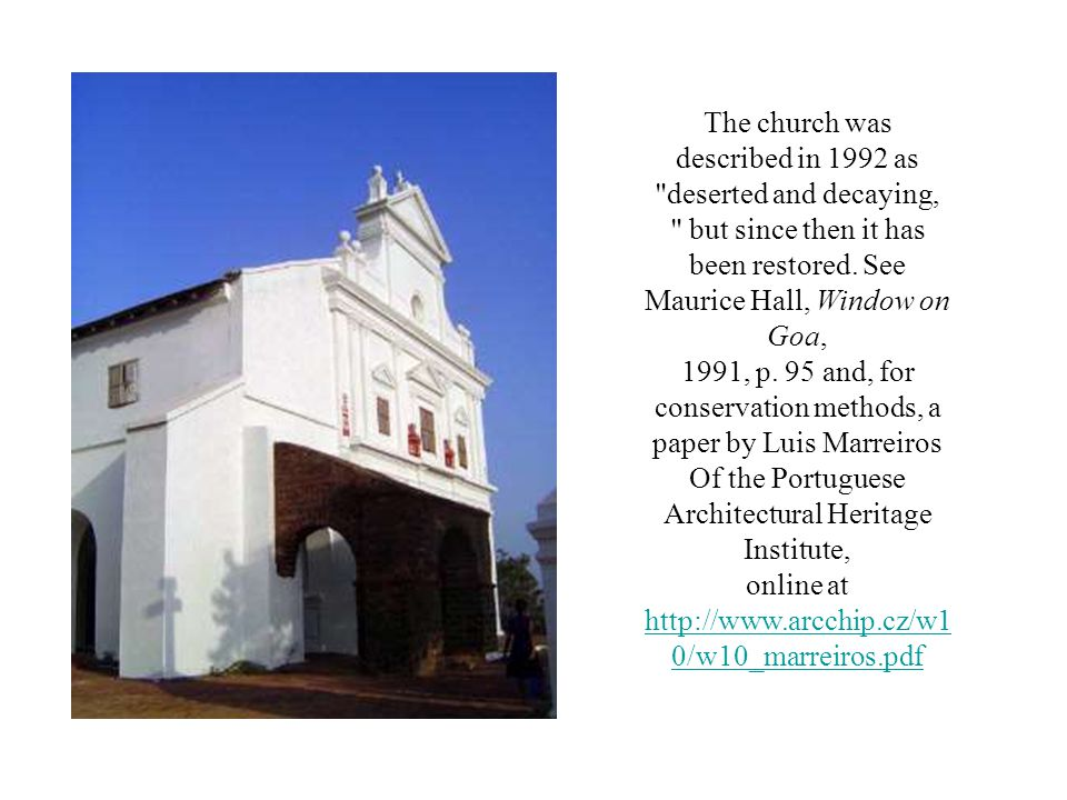 The church was described in 1992 as