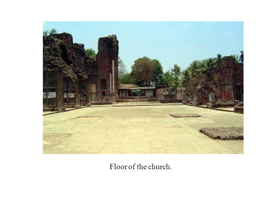 Floor of the church.
