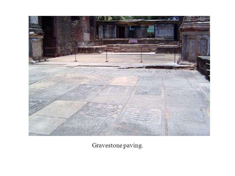 Gravestone paving.