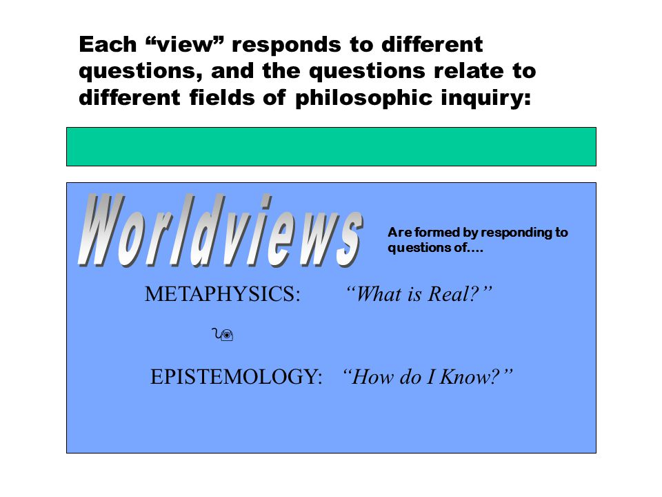 Each view responds to different questions, and the questions relate to different fields of philosophic inquiry: Is the study of the Prescriptive Principles used to discern right from wrong.