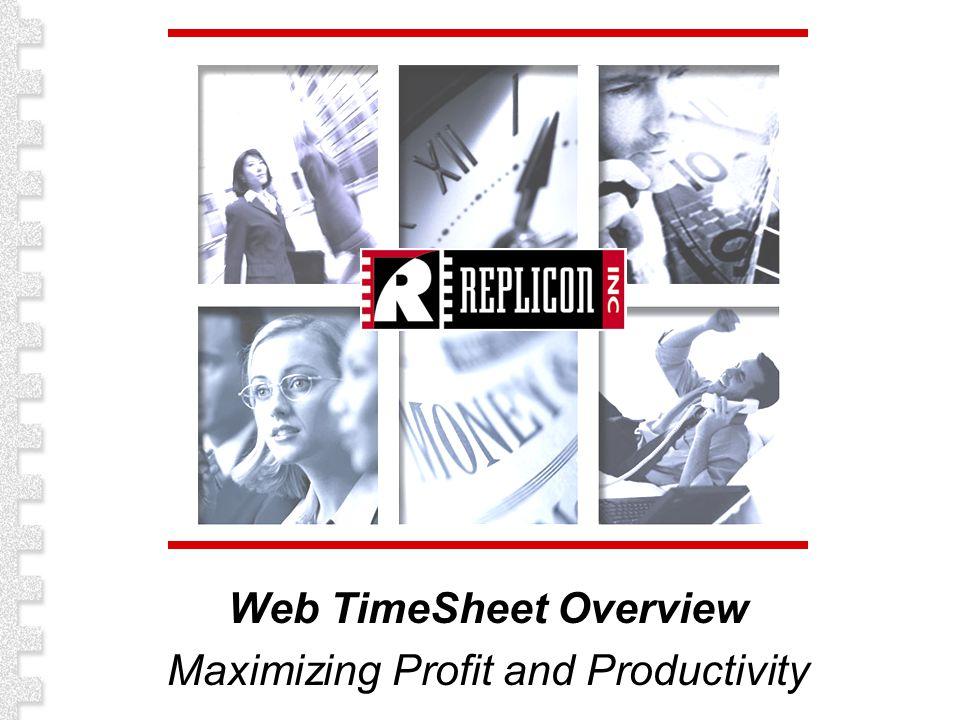 Web TimeSheet Overview Maximizing Profit and Productivity