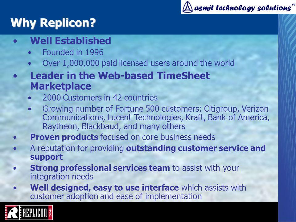 Why Replicon.