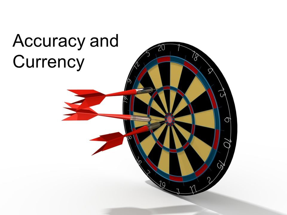 Accuracy and Currency