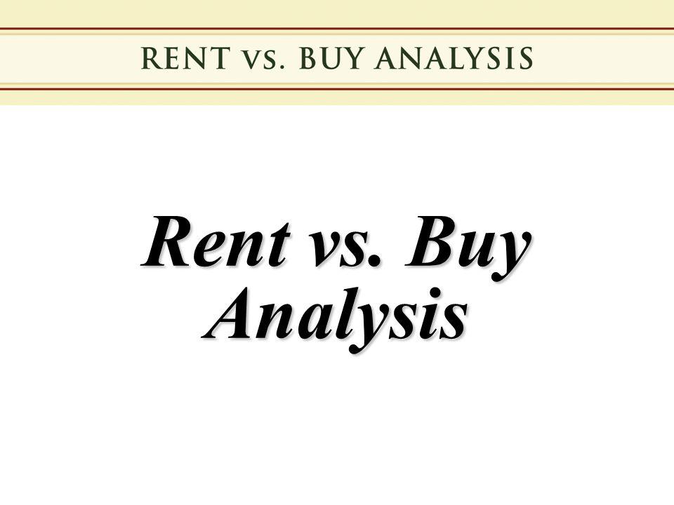 Rent vs. Buy Analysis