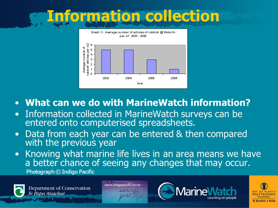 Information collection What can we do with MarineWatch information.