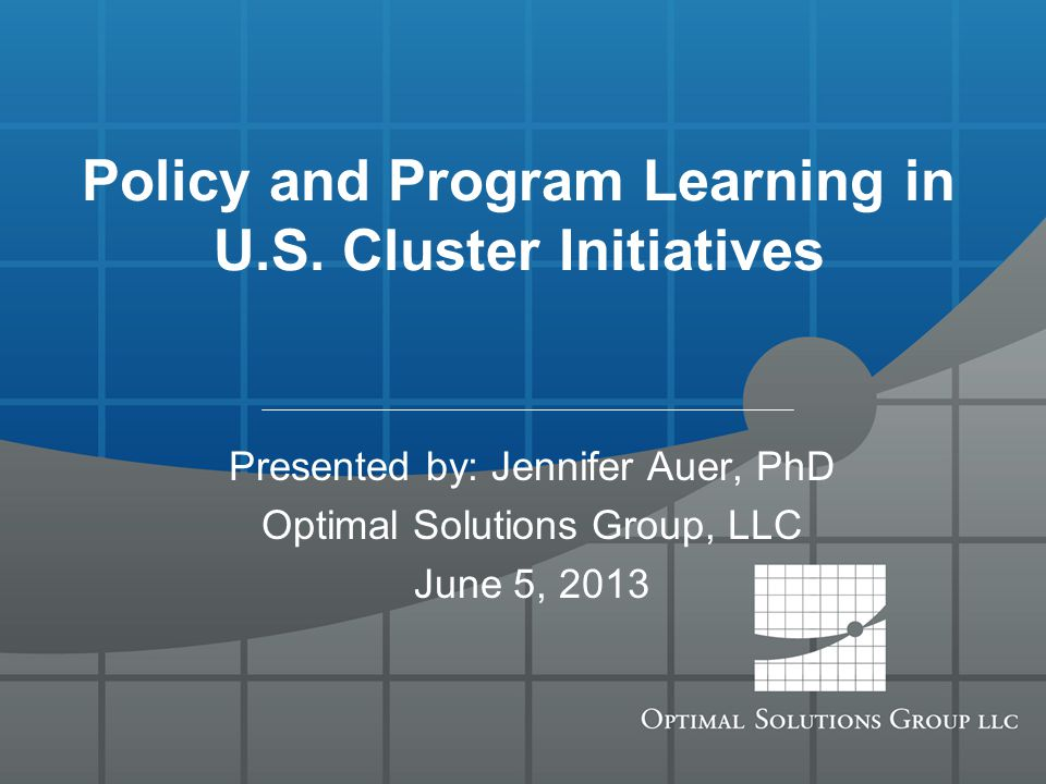 Policy and Program Learning in U.S.
