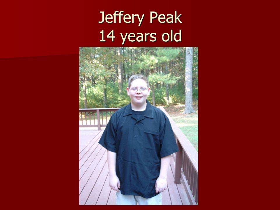 Jeffery Peak 14 years old