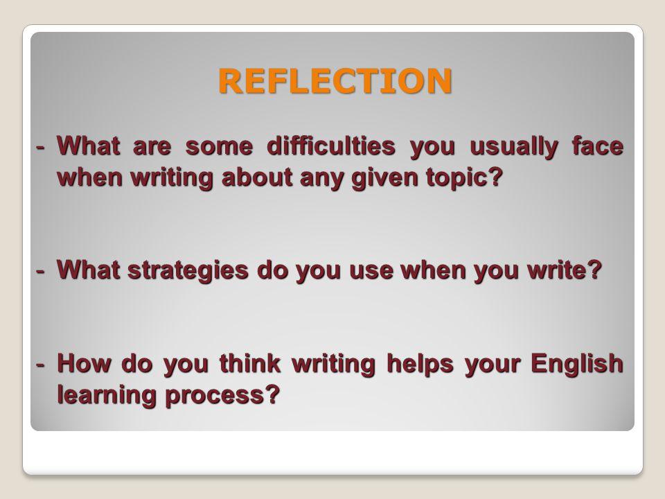 - Highlight the importance of following concrete steps to write a good text.
