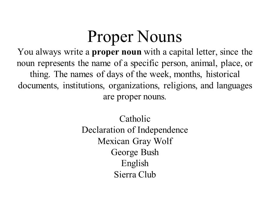 Pronoun Take the place of common and proper nouns. I he she it we they our them you