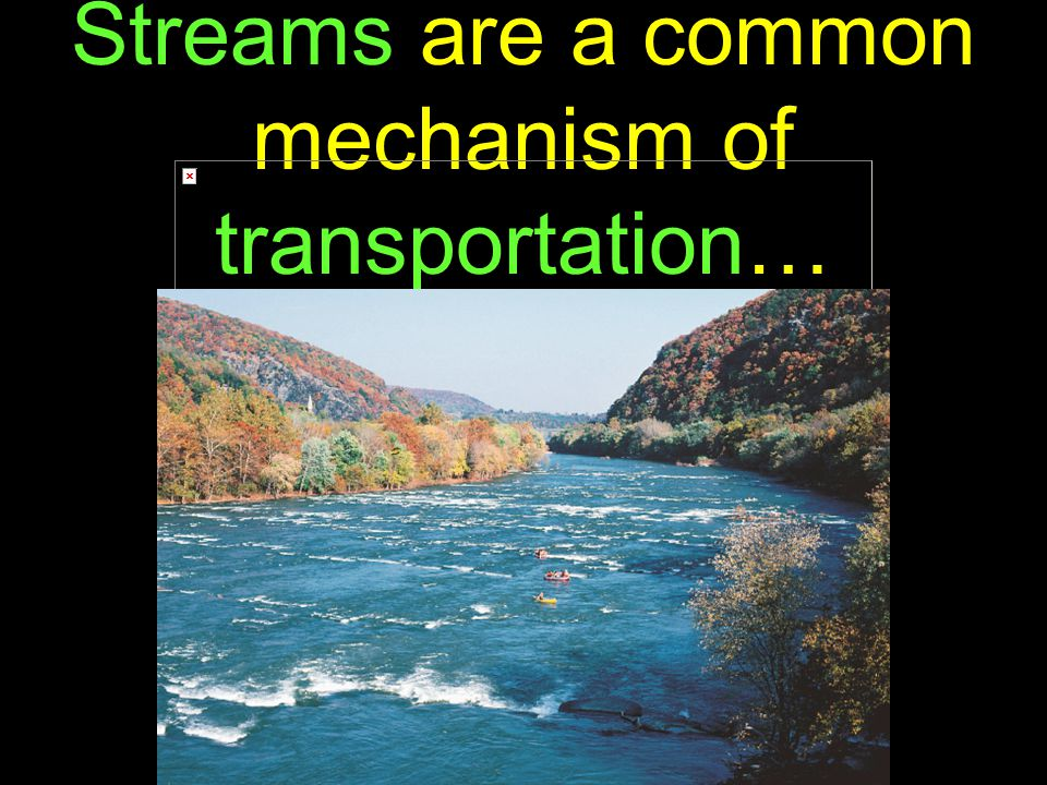 39 Streams are a common mechanism of transportation…