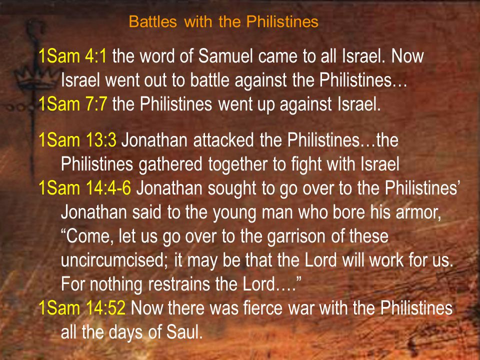 1Sam 4:1 the word of Samuel came to all Israel.