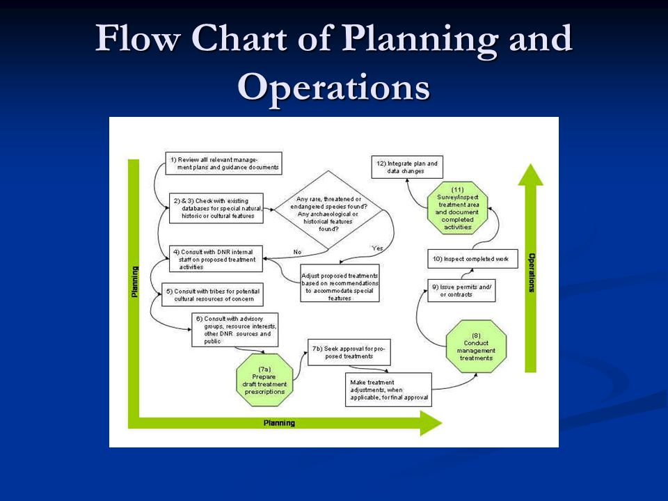 Flow Chart of Planning and Operations