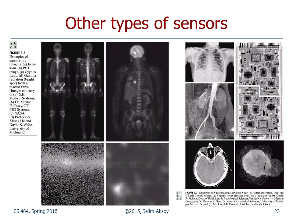 CS 484, Spring 2015©2015, Selim Aksoy23 Other types of sensors