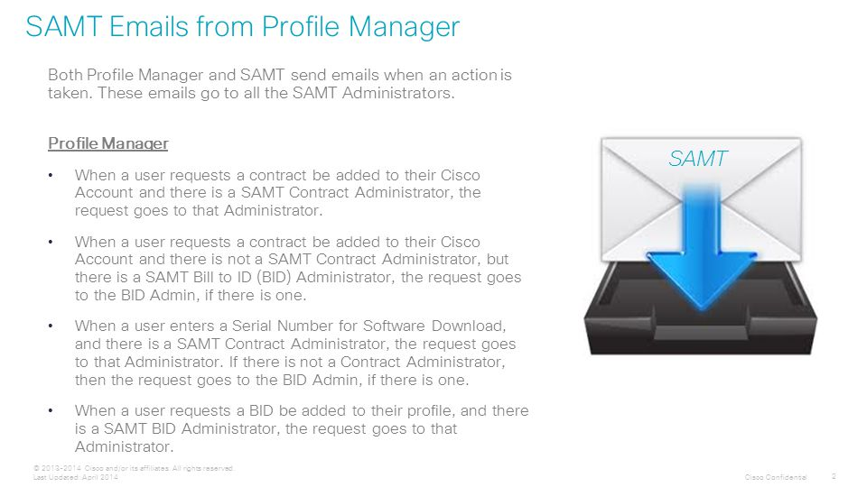 Cisco Confidential 2 © 2013-2014 Cisco and/or its affiliates.