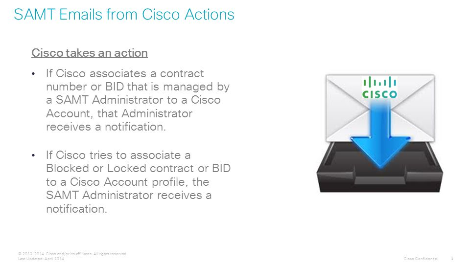 Cisco Confidential 3 © 2013-2014 Cisco and/or its affiliates.