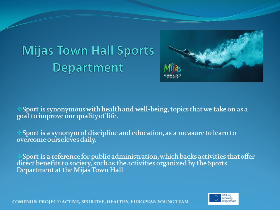  Sport is synonymous with health and well-being, topics that we take on as a goal to improve our quality of life.